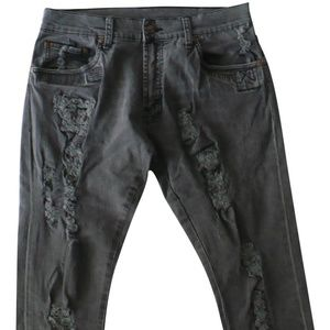 Cheap Monday Forest Star Homemade Black Destroyed